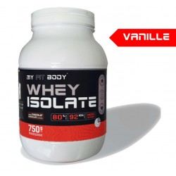 Isolat Protéine Lacotserum WHEY ISOLATE Construction Masse Musculaire Saveur Vanille