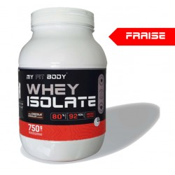 Isolat Protéine Lacotserum WHEY ISOLATE Construction Masse Musculaire Saveur Chocolat