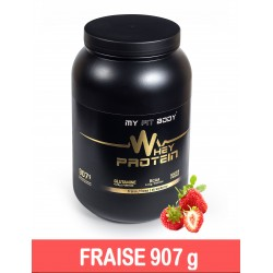 WHEY PROTEIN Construction Musculaire Gamme Premium Saveur Fraise 907 g