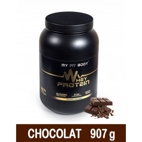 WHEY PROTEIN Construction Musculaire Gamme Premium Saveur Chocolat 907 g